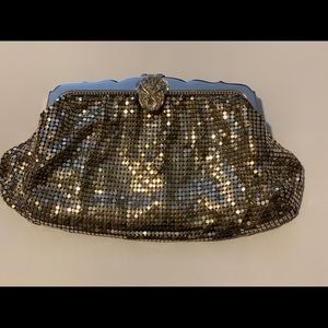 Vintage 1950s Whiting and Davis gold mesh clutch